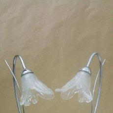 Vintage: LAMPARAS DE HIERRO NIQUELADO. Lote 216022772