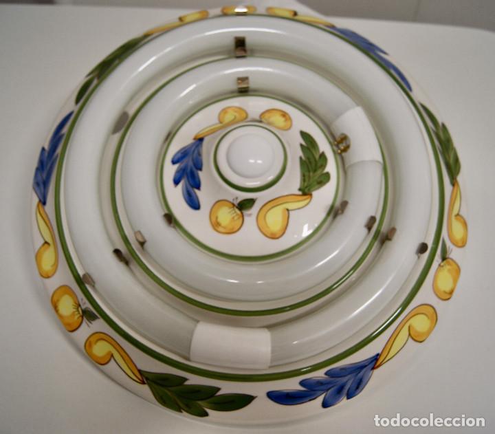 Vintage: plafón de cerámica con fluorescentes - Foto 2 - 218496341