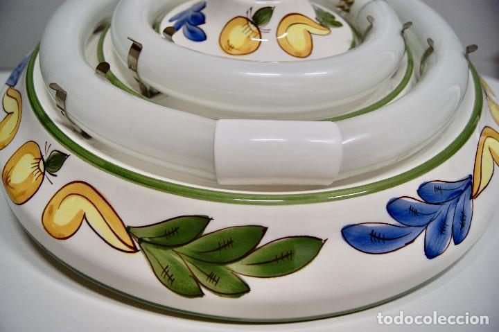Vintage: plafón de cerámica con fluorescentes - Foto 4 - 218496341