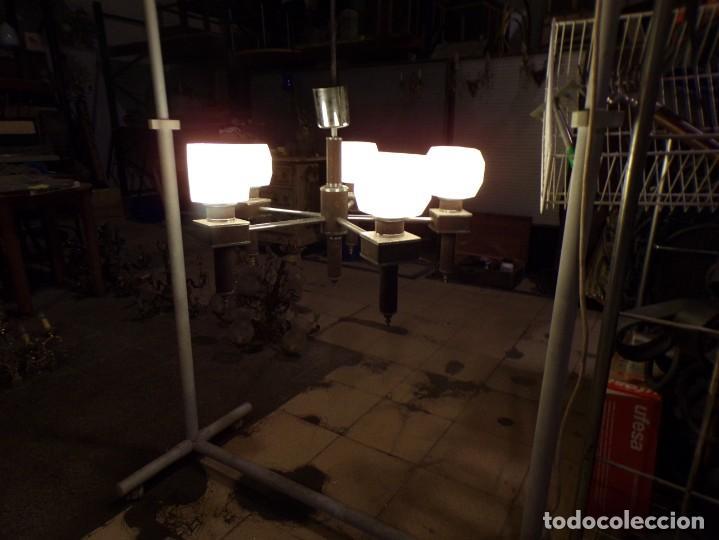 Vintage: gran lampara vintage espectacular diseño muy decorativa opalina cuadrada funcionando - Foto 10 - 50796170