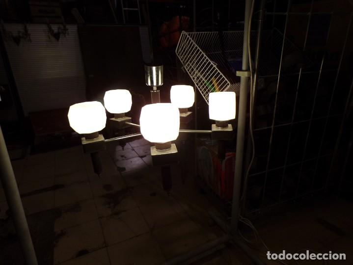 Vintage: gran lampara vintage espectacular diseño muy decorativa opalina cuadrada funcionando - Foto 11 - 50796170