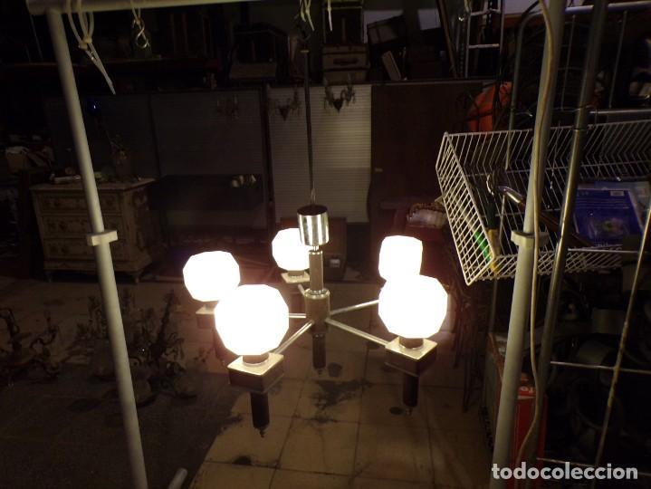 Vintage: gran lampara vintage espectacular diseño muy decorativa opalina cuadrada funcionando - Foto 12 - 50796170