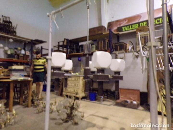 Vintage: gran lampara vintage espectacular diseño muy decorativa opalina cuadrada funcionando - Foto 13 - 50796170
