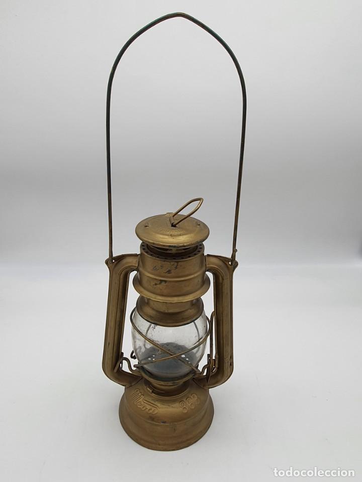 LAMPARA BARCO ( MADE IN CZECHOSLOVAKIA ) (Vintage - Lámparas, Apliques, Candelabros y Faroles)