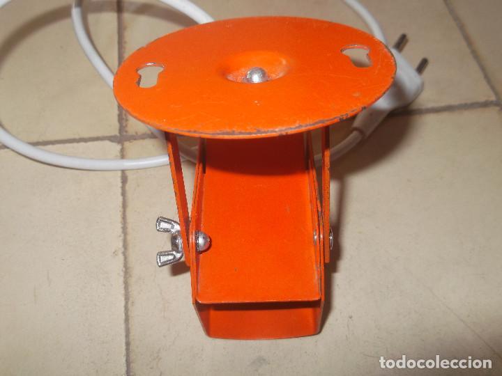 Vintage: Aplque IEP orientable color naranja con cable y enchufe originales. - Foto 8 - 218764002