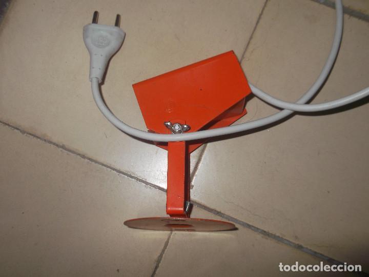Vintage: Aplque IEP orientable color naranja con cable y enchufe originales. - Foto 10 - 218764002