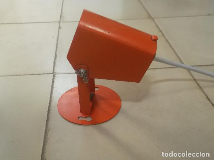 Vintage: Aplque IEP orientable color naranja con cable y enchufe originales. - Foto 12 - 218764002