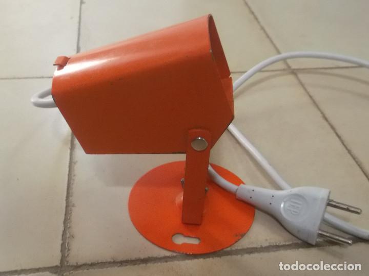 Vintage: Aplque IEP orientable color naranja con cable y enchufe originales. - Foto 14 - 218764002