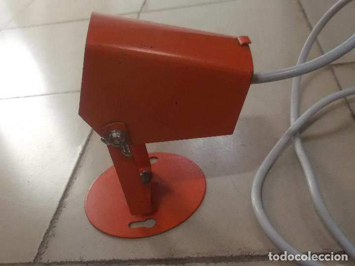 Vintage: Aplque IEP orientable color naranja con cable y enchufe originales. - Foto 16 - 218764002