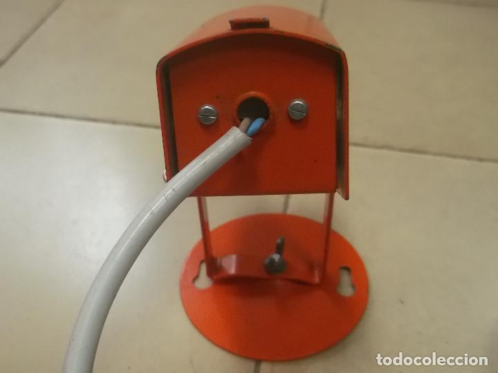 Vintage: Aplque IEP orientable color naranja con cable y enchufe originales. - Foto 18 - 218764002