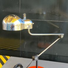 Vintage: LAMPARA DE MESA STILNOVO ITALIANA MODELO TOPO BASE DISEÑO DE JOE COLOMBO AÑO 1969. Lote 219583702