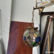 Vintage: LAMPARA ARABE CRISTALES COLORES. Lote 220025701