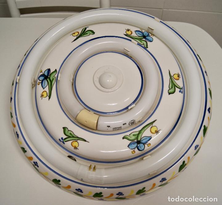 Vintage: plafón de cerámica con fluorescentes de gran tamaño - Foto 2 - 220065736