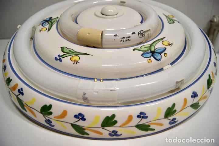 Vintage: plafón de cerámica con fluorescentes de gran tamaño - Foto 4 - 220065736