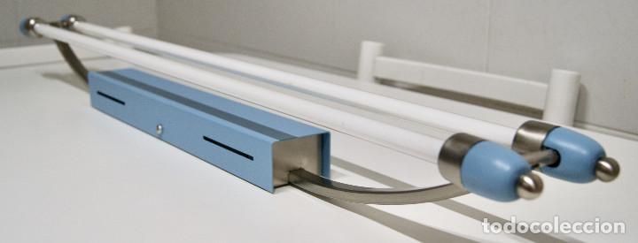 Vintage: plafón azul y niquel con fluorescentes alargado - Foto 9 - 220066225