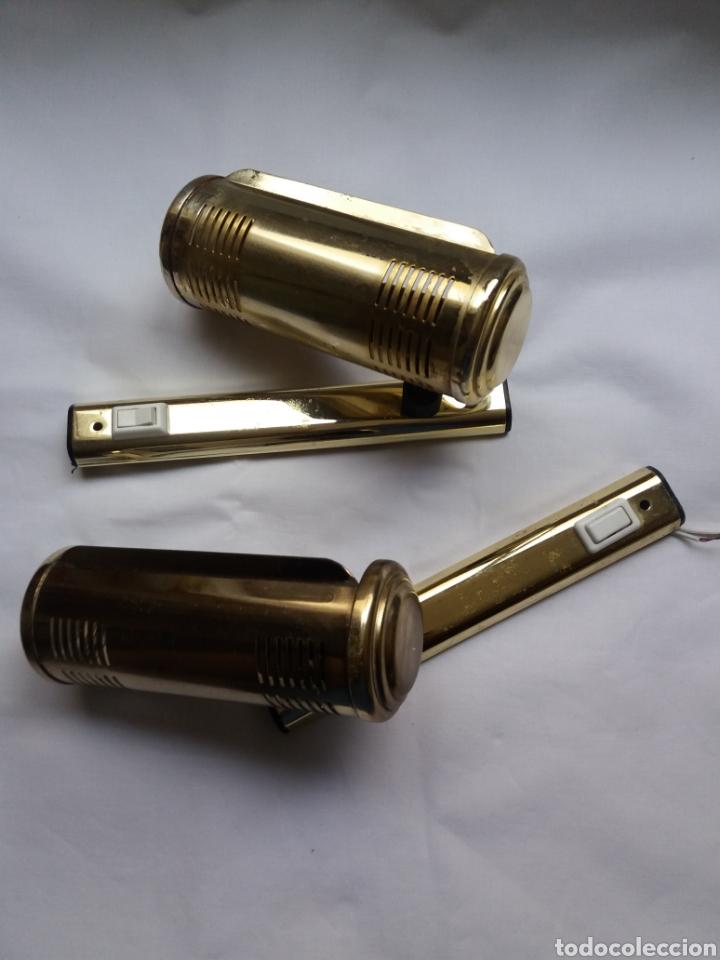 Vintage: Pareja apliques lámparas para iluminar cuadros o figuras vintage años 70 - Foto 2 - 220852465