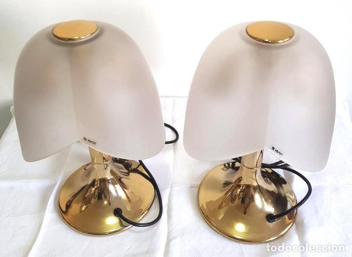 Vintage: LINDISIMO PAR DE LAMPARAS DE MESA VEART ITALY ITALIA VENEZIA DISEÑO DECADA DEL 70 - Foto 5 - 221133286