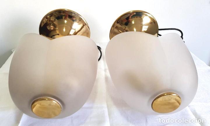 Vintage: LINDISIMO PAR DE LAMPARAS DE MESA VEART ITALY ITALIA VENEZIA DISEÑO DECADA DEL 70 - Foto 6 - 221133286