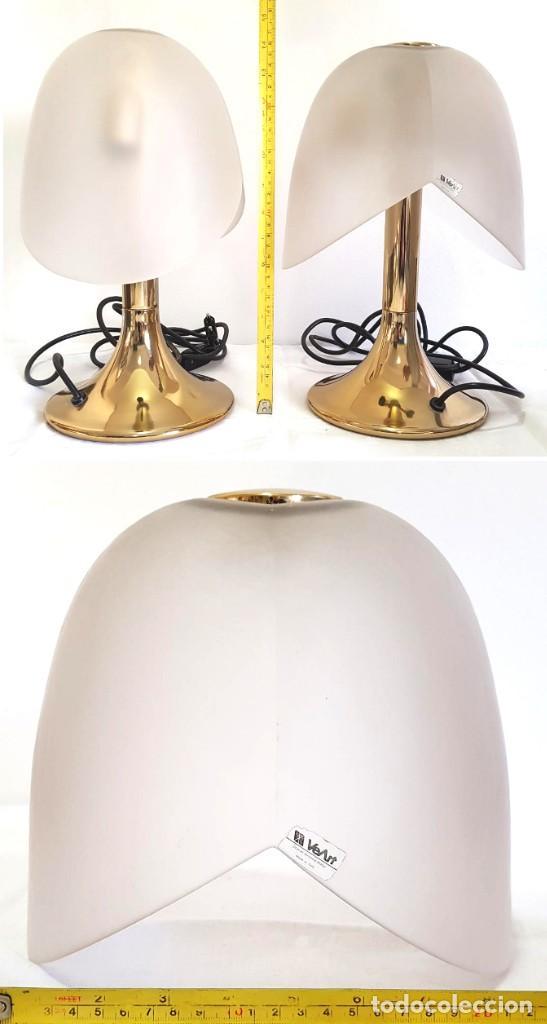 Vintage: LINDISIMO PAR DE LAMPARAS DE MESA VEART ITALY ITALIA VENEZIA DISEÑO DECADA DEL 70 - Foto 12 - 221133286