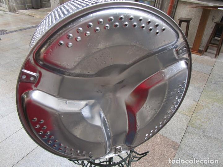 Vintage: IMPECABLE TAMBOR TAMBOR DE LAVADORA - ACERO INOX - PARA LAMPARA - BELLO EFECTO DE LUZ + INFO - Foto 4 - 221414677