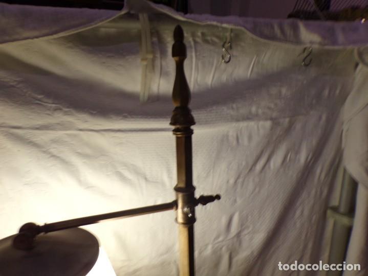 Vintage: LAMPARA DE BRONCE DE PIE VINTAGE REGULABLE EN ALTURA FUNCIONANDO - Foto 3 - 221752052