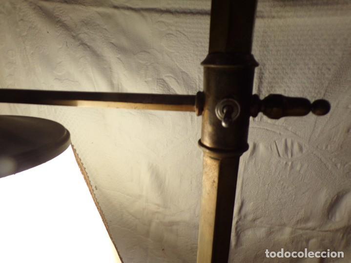 Vintage: LAMPARA DE BRONCE DE PIE VINTAGE REGULABLE EN ALTURA FUNCIONANDO - Foto 5 - 221752052