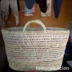Vintage: TRADITIONAL- MOROCCAN SHOPPING -BAG, HAND-WOVEN WITH NATURAL -MATERIALS, 30 CM BY 20 CM LONG. Lote 221828936