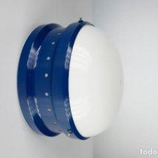 Vintage: LAMPARA PARED TECHO KARTELL TRAMO AZUL VINTAGE SPACE AGE PLAFON APLIQUE ITALIA AÑOS 70. Lote 223547800