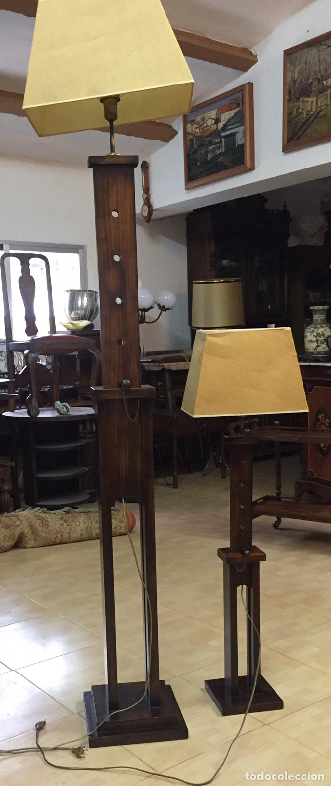 Vintage: Lámparas Madera Regulables Vintage - Foto 2 - 223681157