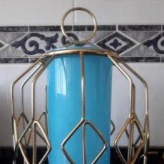 Vintage: ESTRUCTURA DE LAMPARA COLGANTE VINTAGE TIPO FAROL Ó APLIQUE DE PARED AÑOS 60. Lote 225547271