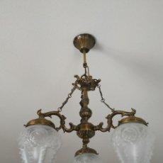 Vintage: JUEGO LAMPARA TECHO Y 2 LAMPARAS MESILLA. Lote 226098715