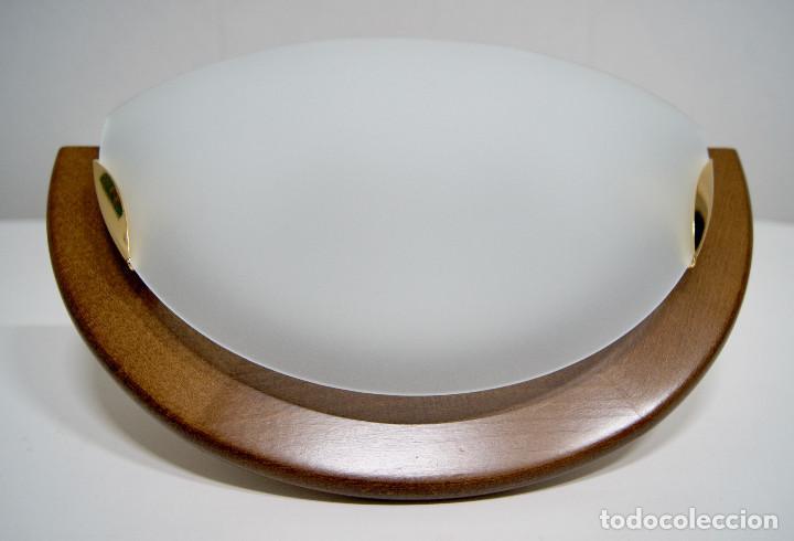 Vintage: Aplique madera y cristal - Foto 2 - 228931085