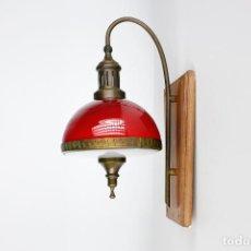 Vintage: LAMPARA APLIQUE FASE 1007 PARED RETRO VINTAGE ROJO ESPAÑA AÑOS 60. Lote 229298780