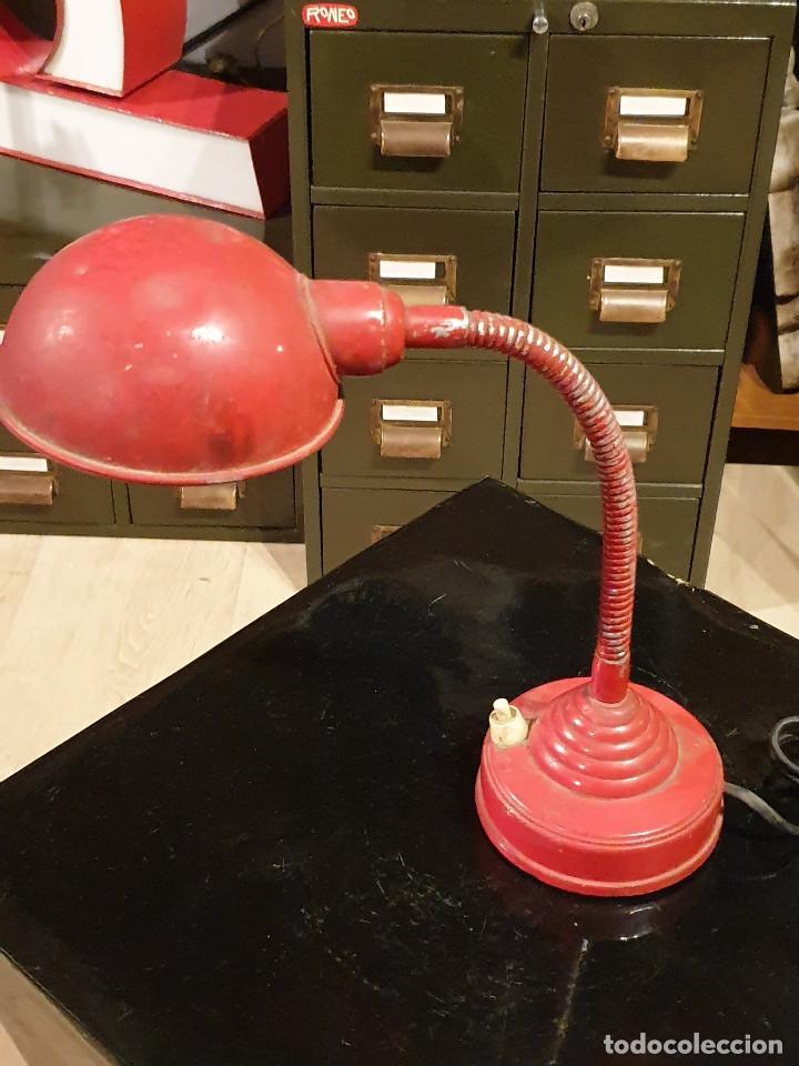 ANTIGUO FLEXO ESCRITORIO VINTAGE FASE LAMPARA AÑOS 60-70 (Vintage - Lámparas, Apliques, Candelabros y Faroles)
