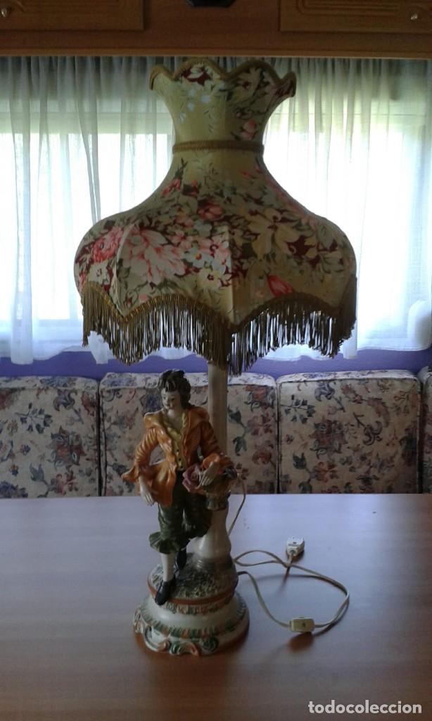 LÁMPARA AMERICANA DE MESITA (Vintage - Lámparas, Apliques, Candelabros y Faroles)
