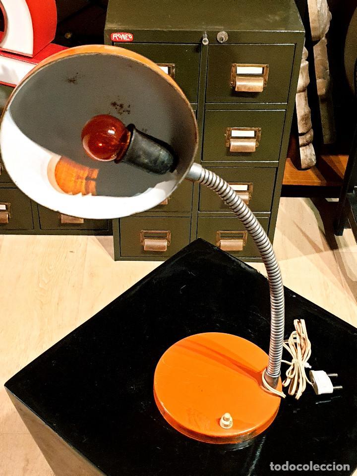 Vintage: ANTIGUO FLEXO ESCRITORIO VINTAGE FASE LAMPARA AÑOS 60-70 - Foto 8 - 232220670