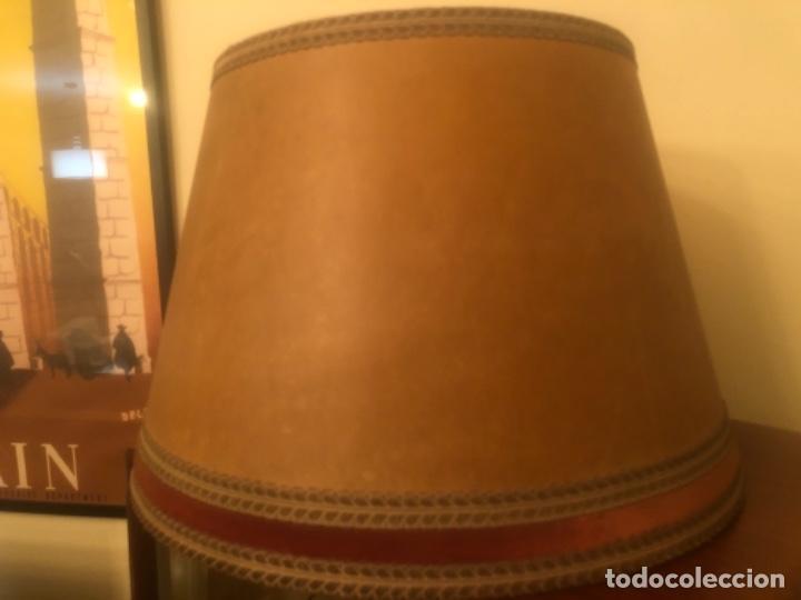 PANTALLA DE LÁMPARA ANTIGUA (Vintage - Lámparas, Apliques, Candelabros y Faroles)