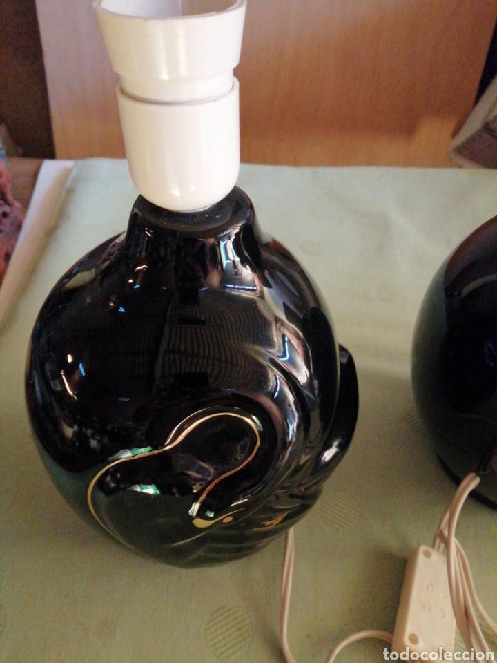 Vintage: Pareja lámparas sobremesa en porcelana - Foto 2 - 234512310
