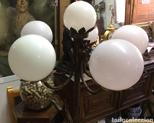 Vintage: Lámpara de pie de forja - Foto 3 - 234827495