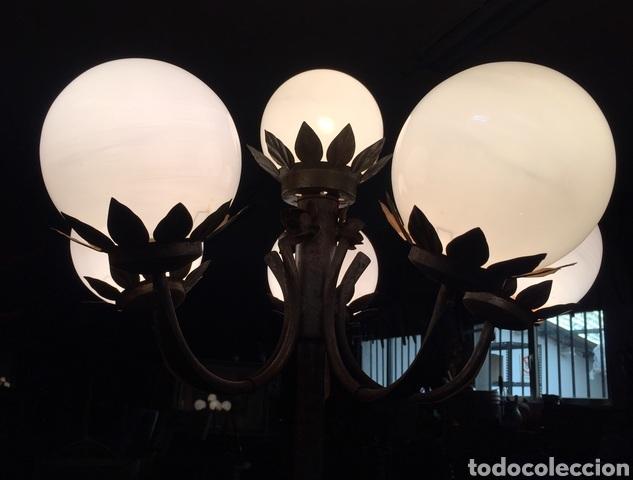Vintage: Lámpara de pie de forja - Foto 6 - 234827495