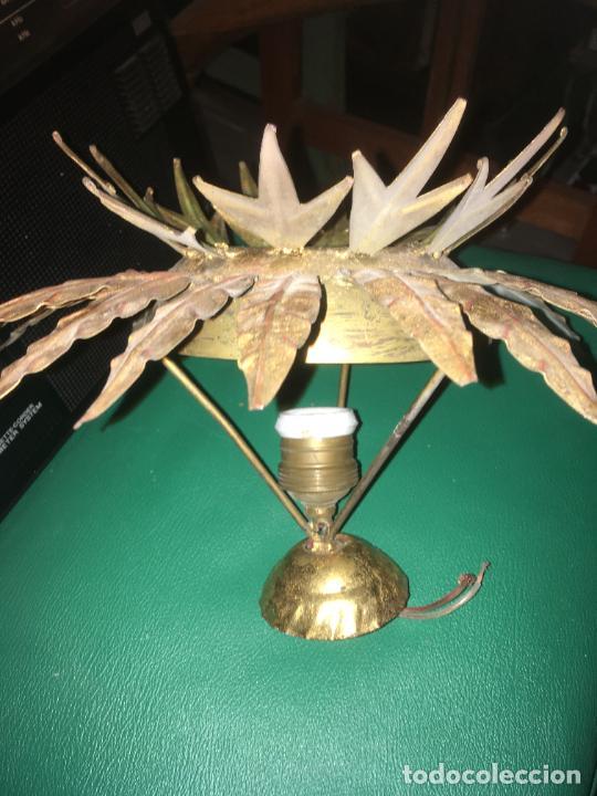Vintage: lampara aplique de techo girasol sol , dorado. mide 35 x 22 cms. - Foto 3 - 235261445