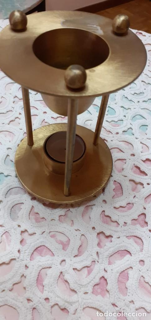 QUEMADOR DE ACEITES ESENCIALES - EN COLOR BRONCE (Vintage - Lámparas, Apliques, Candelabros y Faroles)