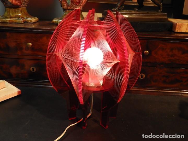 Vintage: PRECIOSA LAMPARA VINTAGE EN COLOR ROJO - Foto 5 - 236861750