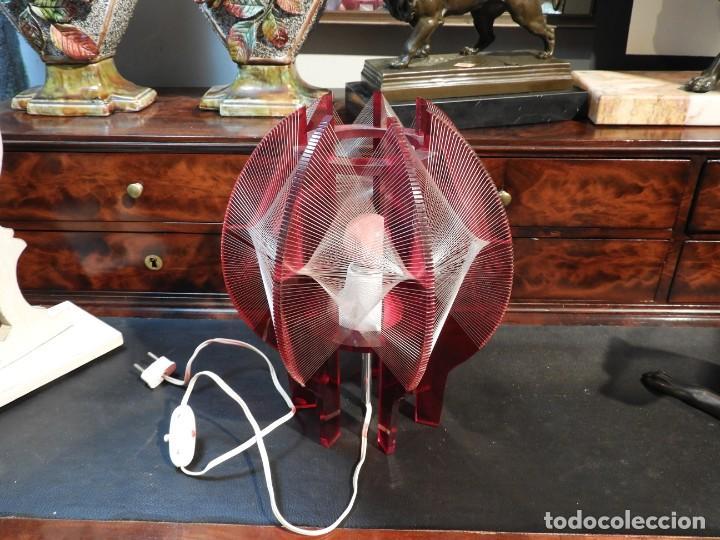Vintage: PRECIOSA LAMPARA VINTAGE EN COLOR ROJO - Foto 6 - 236861750