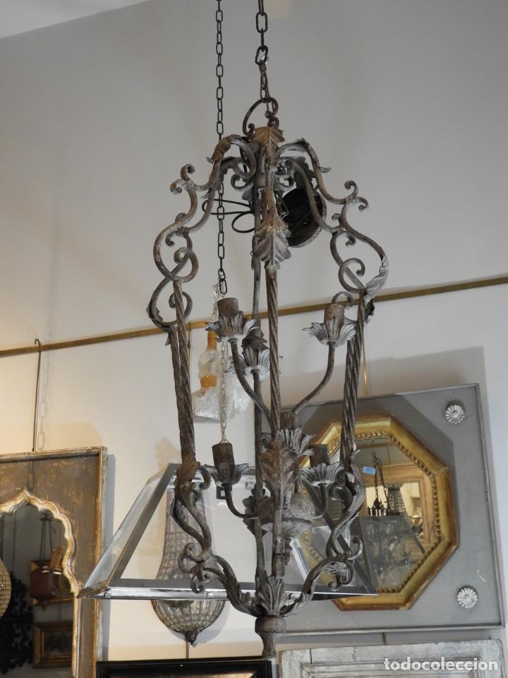 Vintage: DECORATIVA LAMPARA DE HIERRO CON 6 LUCES 90 CM MAS CADENA - Foto 3 - 236861810