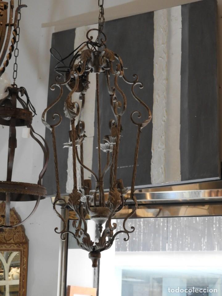 Vintage: DECORATIVA LAMPARA DE HIERRO CON 6 LUCES 90 CM MAS CADENA - Foto 6 - 236861810