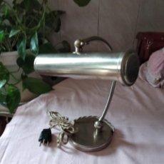 Vintage: LAMPARA DE MESA FLEXO DE ESCRITORIO ACERO INOXIDABLE VINTAGE, AÑOS 70. Lote 238175505
