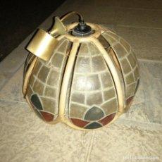 Vintage: LAMPARA DE CRISTAL DE COLORES PORMA PETALO FLOR. Lote 238850890