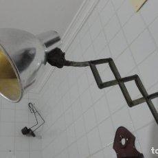 Vintage: ANTIGUA LAMPARA FLEXO.TIJERAS.EXTENSIBLE.PANTALLA ALUMINIO.PATENTADA.RETRO VINTAGE INDUSTRIAL.. Lote 241146050