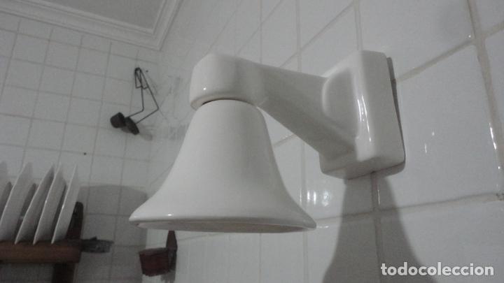 ANTIGUA LAMPARA O APLIQUE ESTILO ART DECO.PORCELANA.VINTAGE.SIGLO XX (Vintage - Lámparas, Apliques, Candelabros y Faroles)